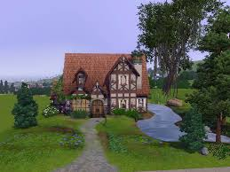 tudor cottage house plans mod the sims cambridge cottage