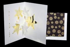 happy new year origami architecture pop up cards by live your