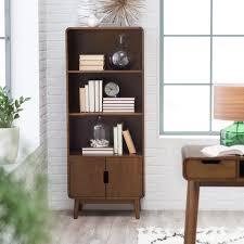 belham living carter mid century modern bookcase hayneedle