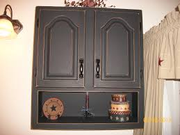Paint Bathroom Cabinets by Finished Bathroom Wall Cabinet With Black Chalkboard Paint Then