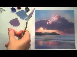 how to color mix and match with acrylic paint landscape painting