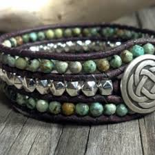 beaded leather cuff bracelet images Shop turquoise leather cuff bracelet on wanelo jpg