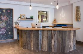 Front Reception Desk Designs Client Work Calming Natural Yoga Studio Reception Desks Desks