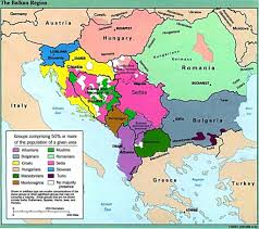 Belgium Language Map Modern Map Of The Balkans Note The Many Ethnic Groups New