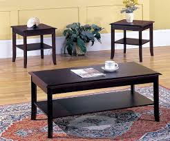 Wood Living Room Table Sets Amazon Com Kings Brand Furniture 3 Piece Wood Occasional Coffee