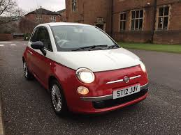 2012 fiat 500 1 2 petrol limited edition white over red in