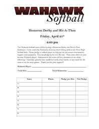 hit a thon form template coaching aids fastpitch pinterest