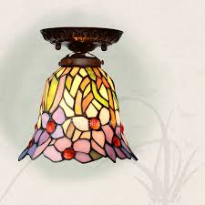 mini stained glass ls stained glass shade hallway tiffany ceiling light