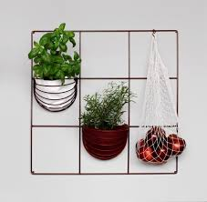 Kitchen Herb by Finnish Design Wallment 9 Square Grid And Baskette Wall Baskets