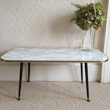 Marble Effect Coffee Tables Large Marble Effect Vintage Coffee Table 1950s Table Basse