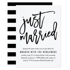 wedding brunch invitations just married post wedding brunch invitation zazzle