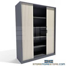 Tambour Door Cabinet Locking Tambour Door Storage Cabinet With Adjustable Shelves Sms