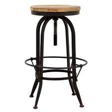 Industrial Metal Bar Stool Furniture Height Adjustable Industrial Metal Bar Stools Black