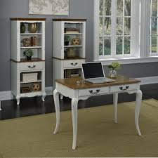 White Student Desks by The French Countryside Oak And Rubbed White Student Desk Homestyles
