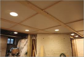 Unfinished Basement Ceiling by Interior Basement Ceiling Ideas Fabric Regarding Gratifying