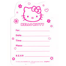 hello kitty birthday invite afoodaffair me