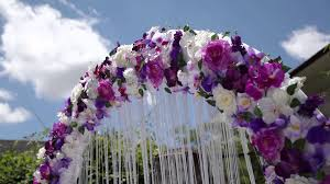 wedding arch purple color style free hd stock footage youtube