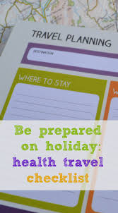 health travel checklist be prepared on tin box traveller