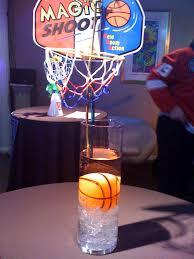 basketball centerpieces cylinder vase centerpieces