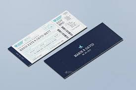 boarding pass wedding invitations boarding pass wedding invitation ticket by vector vactory