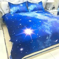 kids fancy blue galaxy bed set single full double size stars