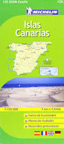 Canary Islands Map Canary Islands Michelin Zoom Map 125 Michelin Zoom Maps Amazon