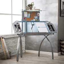 Glass Top Drafting Drawing Table Studio Designs Glass Top Futura Tower Drafting Station Hayneedle