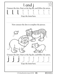 kindergarten preschool reading writing worksheets lowercase i