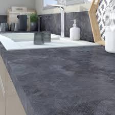 plan de travail cuisine effet beton plan de travail stratifié effet mat l 315 x p 65 cm