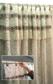 Shower Curtain And Valance How To Cover The Top Banana Cornice With Absolutely No Sewing