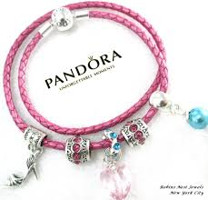 pandora leather bracelet pink images Authentic pandora leather bracelet new honeysuckle pink jpg