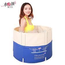 si e baignoire adulte taille 70 70 cm avec pompe l eau épaissie bain de pliage adulte