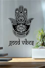 online get cheap hamsa wall decal aliexpress com alibaba group good vibes hamsa wall decals fatima hand quotes wall decor vinyl stickers yoga meditation decor geometric
