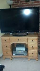 antique desk as tv stand me and mahlon converted this awesome