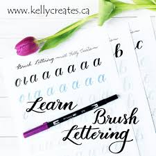 learn brush lettering with practice worksheets u2013 kelly creates