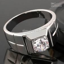 men ring design new design white topaz men s real silver ring nal size 10 11
