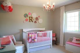 Baby Crib Decoration by Bedroom Modern Baby Nursery Ideas Displaying Wall Mounted Beige