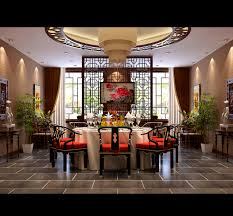 oriental dining room sets spacious modern chinese style dining room 3d model max