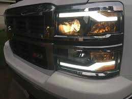 led lights for 2015 silverado winjet headlights w drl for 2014 2015 chevrolet silverado youtube