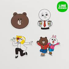 friends emoji amazon com line friends emoji decal sticker set two for laptop