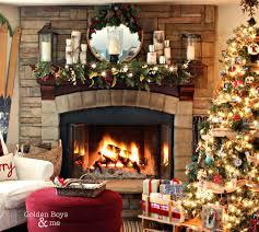 christmas mantel golden boys and me rustic christmas mantel