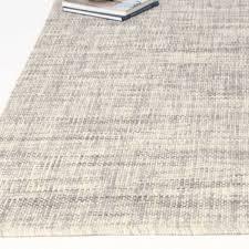 heathered basketweave wool rug 3 u0027x5 u0027 steel wool rug mid