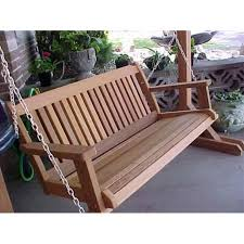 wood country cabbage hill 5 ft red cedar porch swing walmart com