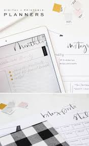 brush script digital and printable planners are here saffron