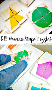 diy wooden shape puzzles wooden shapes shapes and learning