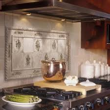 appealing brown copper kitchen backsplash with square shape