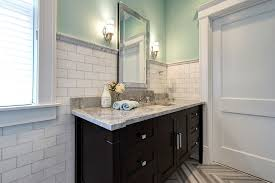 White Bathroom Vanity With Black Granite Top - cabinets in bathroom traditional with st cecilia light granite