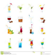 multicolored cocktail icons set stock vector image 51915982