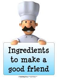 ingredients to make a good friend teaching ideas