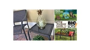 Big Lot Patio Furniture by Spring Outdoor Looks By Big Lots Under 100 Challenge For Patio